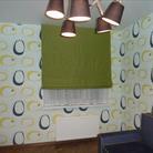 Необычная римская штора в детской комнате.